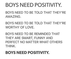 affirmation, anxiety, and boys image