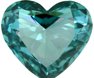 gem, heart, and teal image