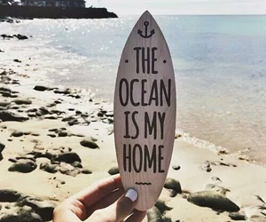 beach, my home, and ocean image
