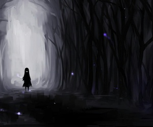 dark, anime, and forest image