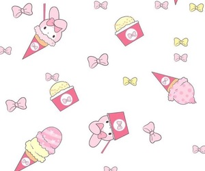 ice cream, my melody, and cute image