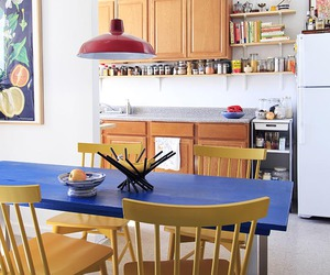 colourful, dining room, and interior design image