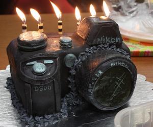 cake, camera, and nikon image