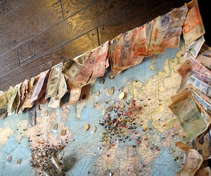 travel, map, and money image