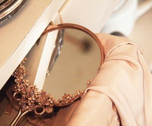 mirror, vintage, and girly image
