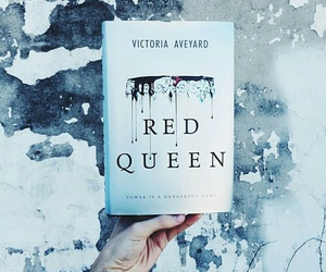 book, reading, and redqueen image
