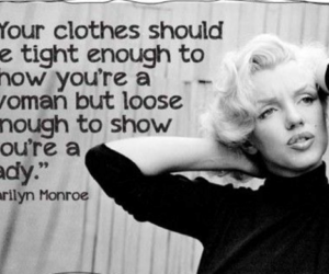 Marilyn Monroe, quotes, and lady image