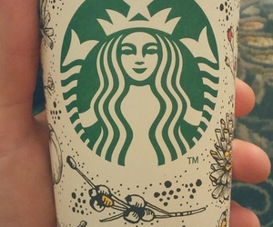 coffee, latte, and starbuck image