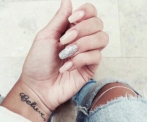 nails, tattoo, and believe image