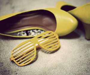 heels, yellow, and shades image