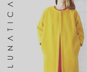 coat, fashion, and yellow image