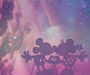 disney, galaxy, and mickey image