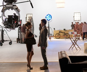 couple, movie, and work image