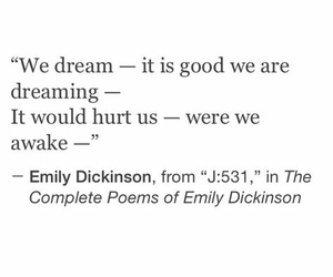 Dream, emily dickinson, and hurt image