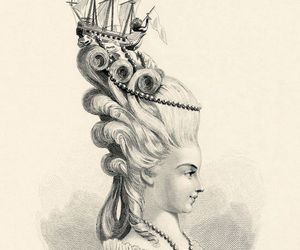 art, hairstyle, and illustration image