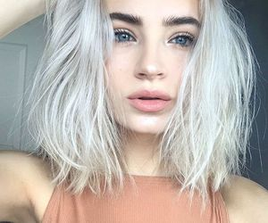 blonde, girl, and pale image