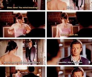 funny, robin tunney, and patrick jane image