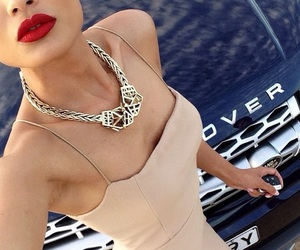 dress, red, and car image