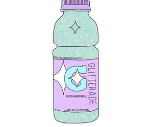 bottle, glittery, and overlays image