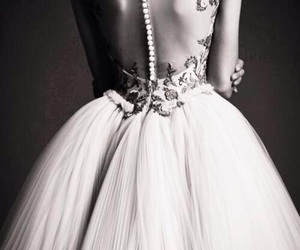 blackandwhite, bride, and dress image