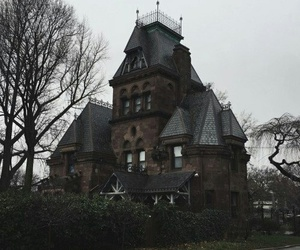 house, dark, and mansion image