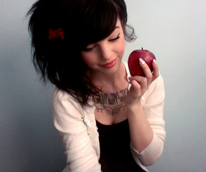 apple, bow, and loop image