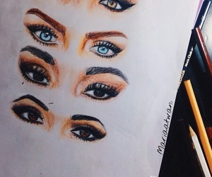 little mix, drawing, and eyes image