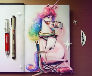 unicorn, drawing, and art image