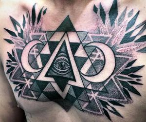 black and white, color, and eye of providence image