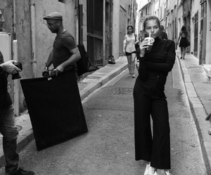 fashion, black and white, and street image