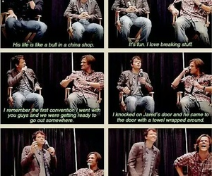 supernatural, misha collins, and jared padalecki image