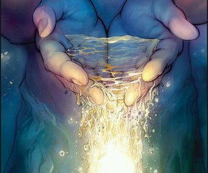 water, art, and hands image