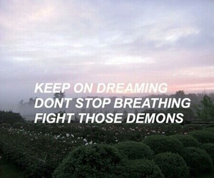 quote, demons, and Lyrics image