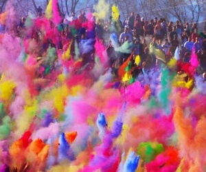 color, holi, and colors image