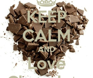 chocolate, keep calm, and heart image