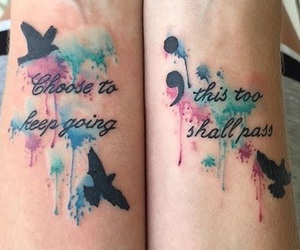 tattoo, bird, and quote image