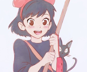 kiki's delivery service, anime, and kiki image