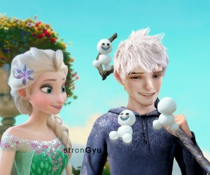 jelsa, jack frost, and frozen fever image