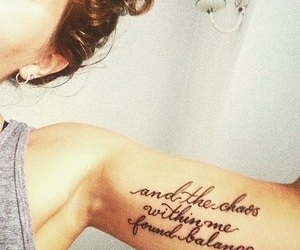tattoo, quote, and chaos image