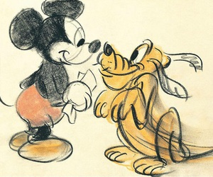 disney, mickey mouse, and pluto image