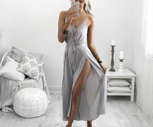 fashion, blonde, and dress image