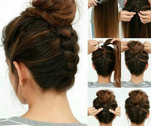 brown, cheveux, and liss image