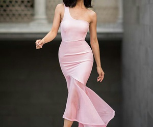 blogger, pink, and dress image