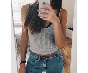 body, fashion, and jeans image