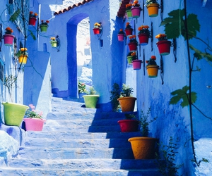 chefchaouen, blue, and morocco image