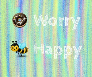 bee, donut, and colors image