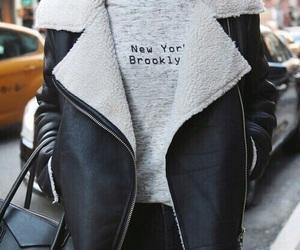 fashion, jacket, and new york image