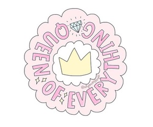 crown, pink, and Queen image