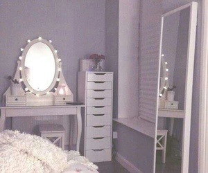 bedroom, room, and mirror image