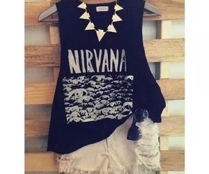 nirvana, outfit, and summer image